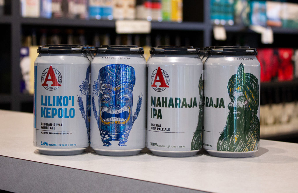 Picture of Avery Brewing Co - cans of Lilikolkepolo and maharaja