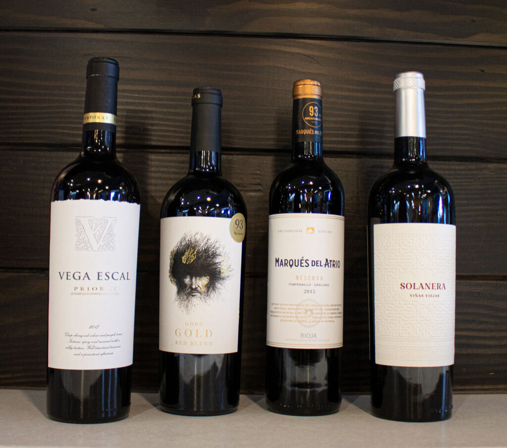 A selection of Spanish wines for the holiday season.