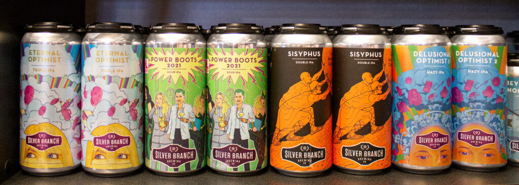 Silver Branch IPA cans